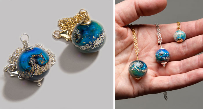 Artist Creates Memorial Ash Beads From Cremated Remains Of Deceased Loved Ones