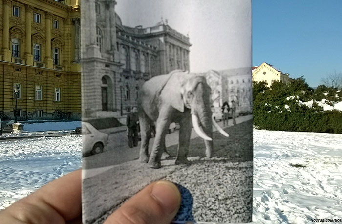 I Combined Historical Croatian Photos With The Places Where They Were Taken Of