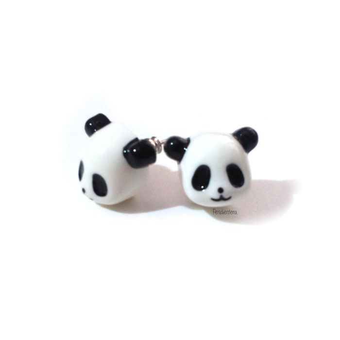 Panda Earrings By Pendientera