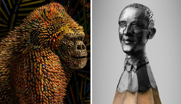 Share Your Most Creative Examples Of Pencil Sculptures
