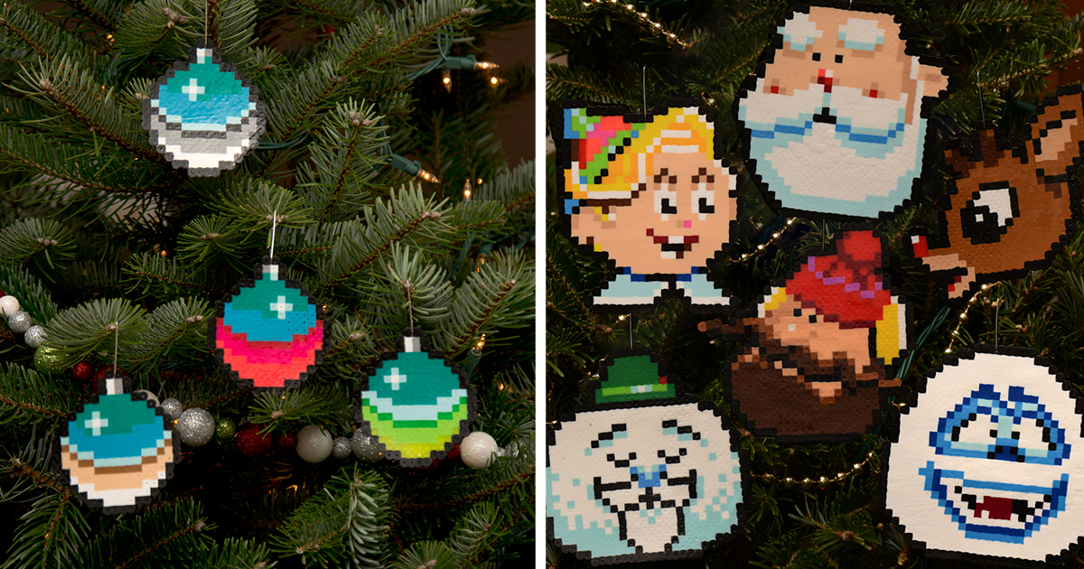 I Create Pixelated Christmas Ornaments For Your Retro Christmas ...