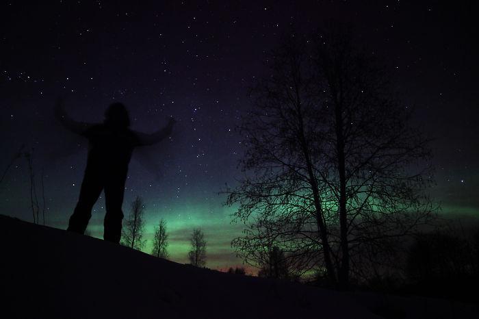 Northern Lights Or Aurora Borealis In Estonia