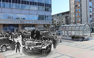 I Combined Old And New Photos Of Serbian Streets To Bring History To Life
