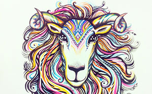 The Sheep: My Watercolor Illustration For The Year Of The Sheep