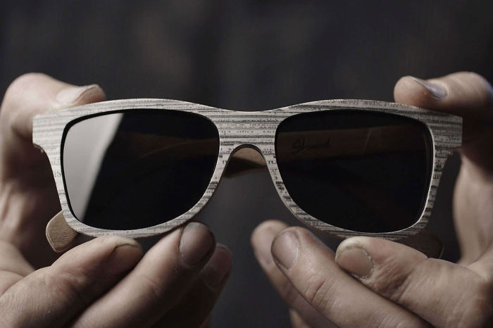 Upcycled Newspaper Eyewear By Shwood