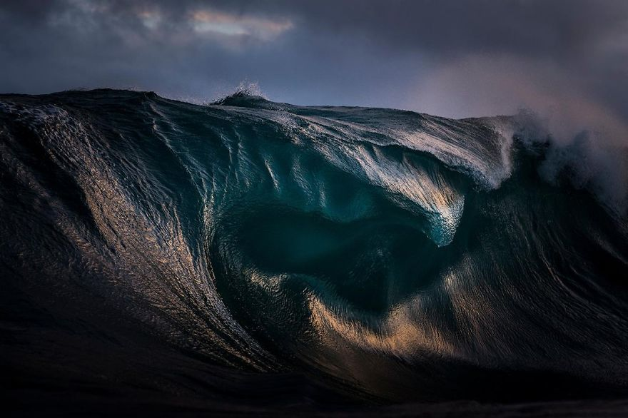Light Refracts Through The Curves Of A Breaking Wave, New South Wales, Sydney, Australia