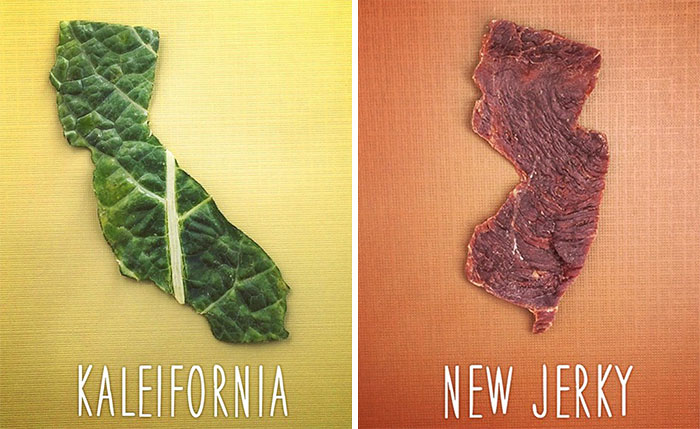 Dad And 8-Year-Old Son Create Punny Food Maps For US States
