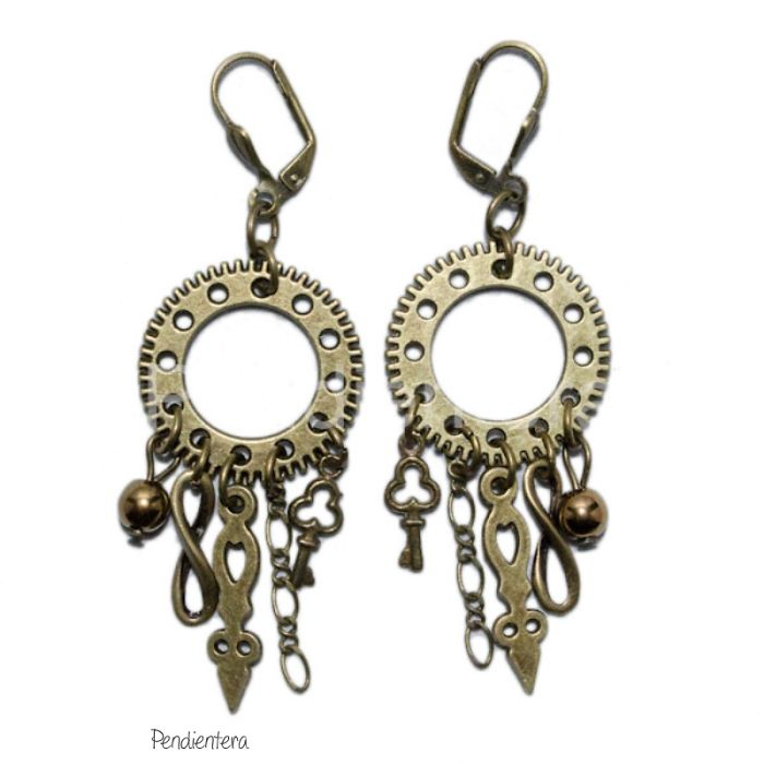 Steampunk Earrings By Pendientera.com