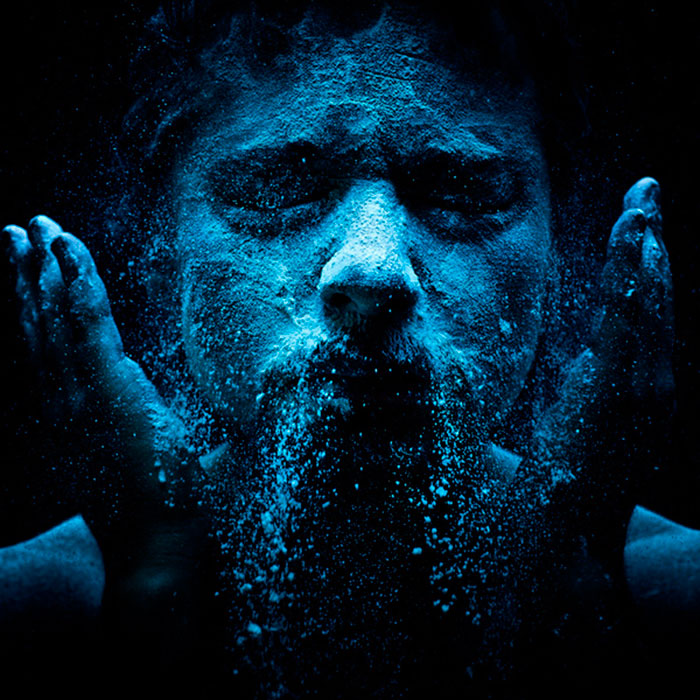 My Photo Portraits With Effects Created Using Flour, Milk And Water