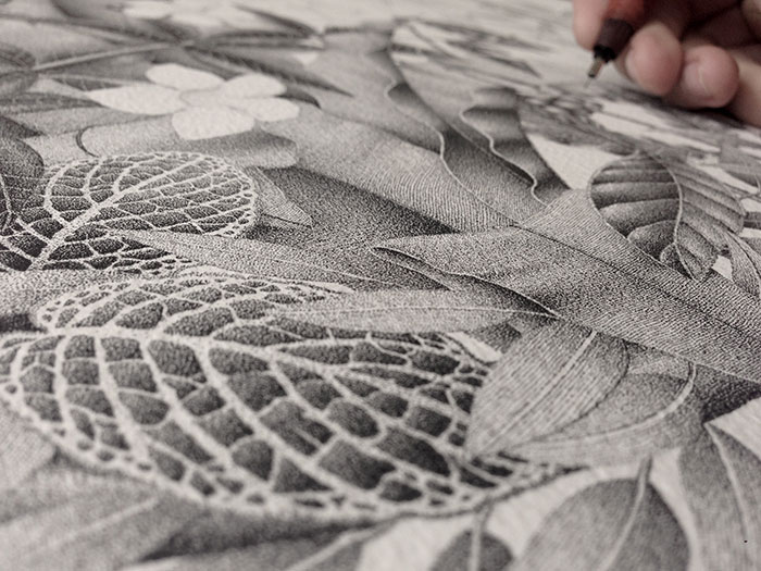 Into The Wild: This Piece Made Of Thousands Of Dots Took Me 380 Hours