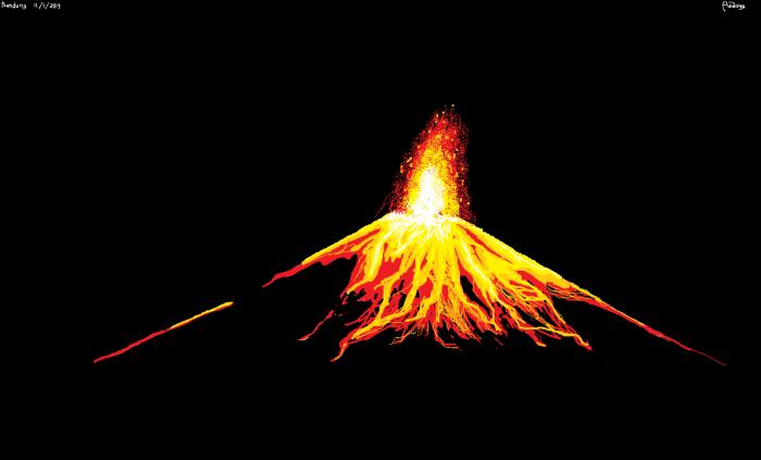 Mspaint – Volcano