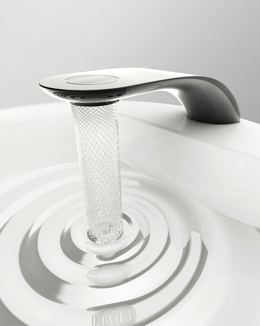 Student's Faucet Design Saves Water By Swirling It Into Beautiful Patterns