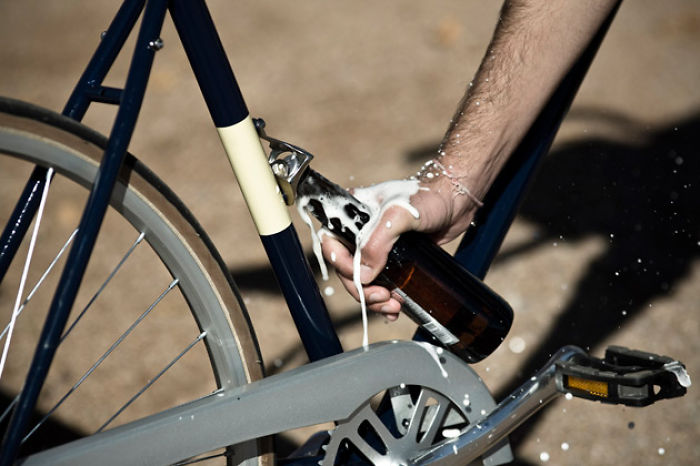 Bicycle With A Bottle Opener