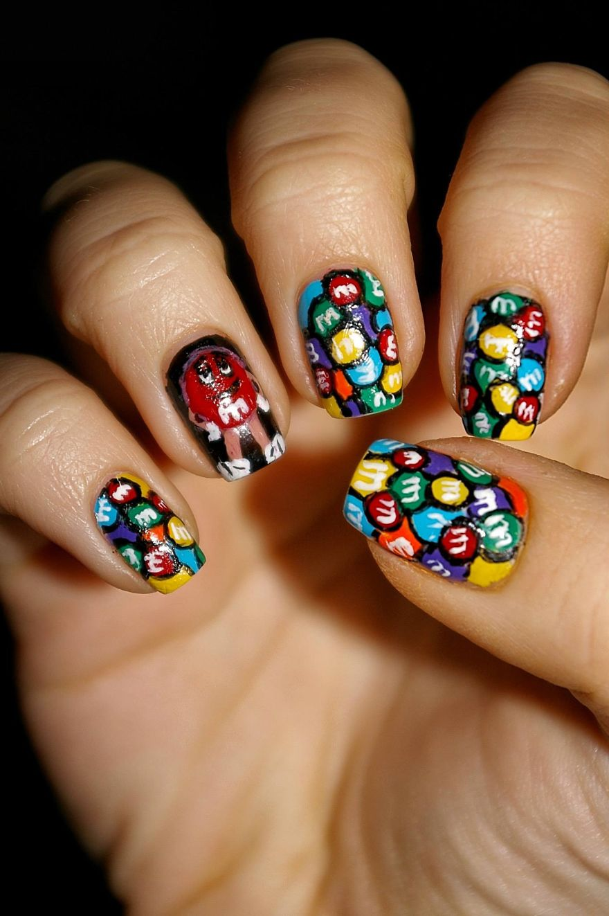 I Paint My Nails With Favorite Cartoons, Movies And Snacks ...