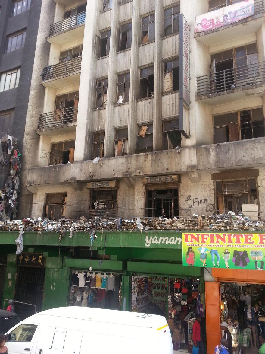 Derilect Building In Johannesburg