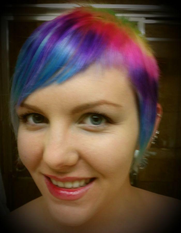 Pixie Cut Rainbow