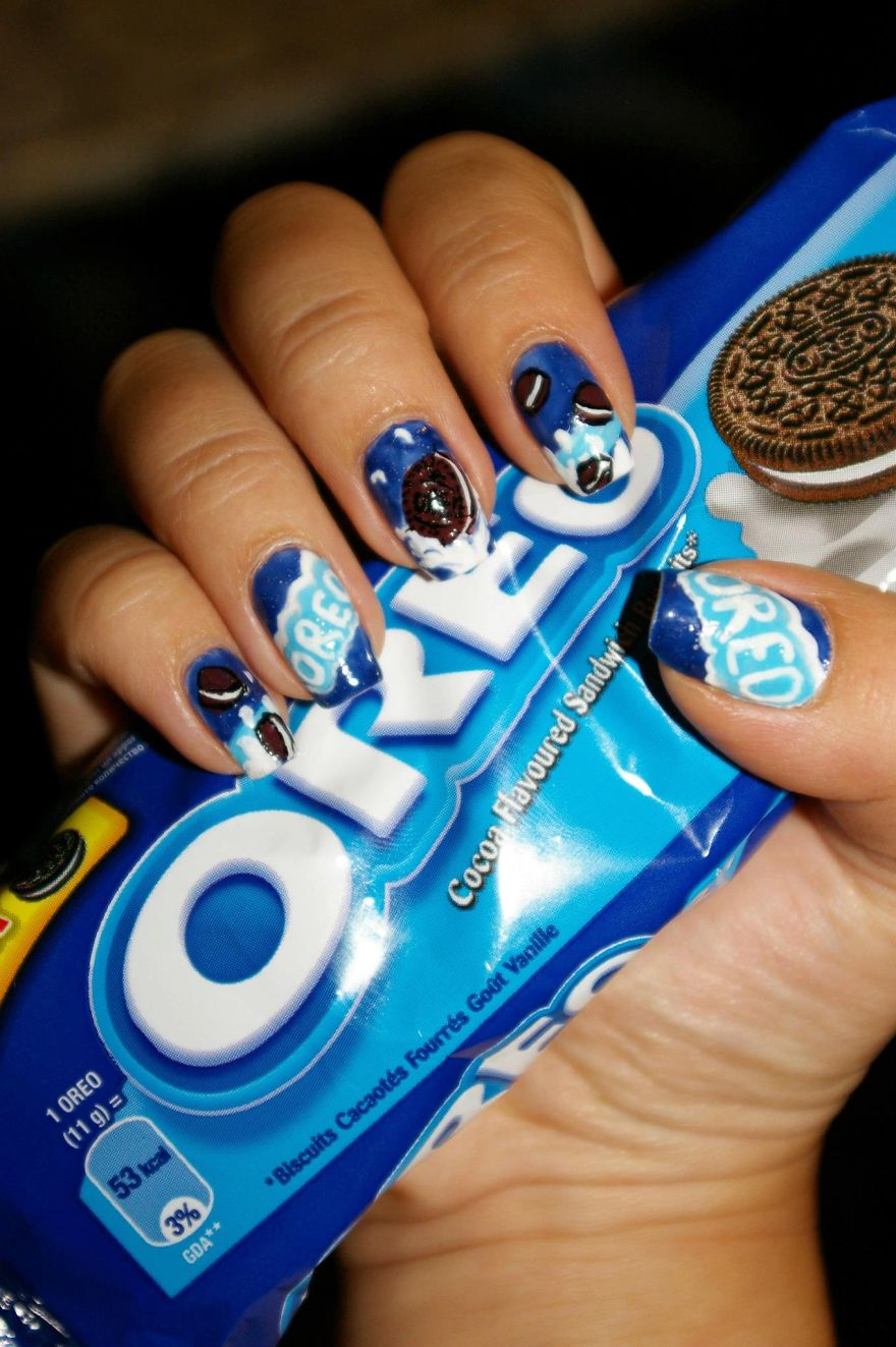 I Paint My Nails With Favorite Cartoons Movies And Snacks