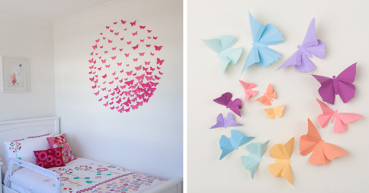 Paper Wall Art i make 3d paper wall decorations to fix boring, flat walls | bored