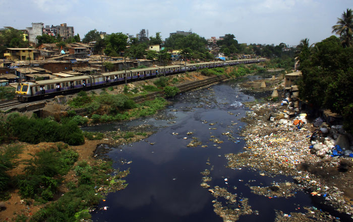 A River In The Suburbs Of Mumbai.