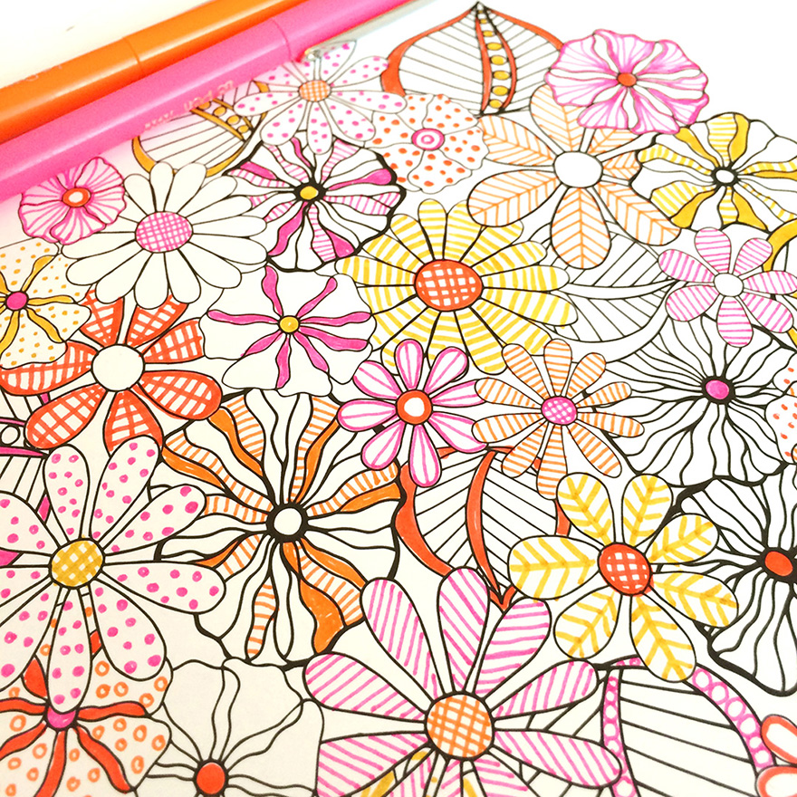Flower Designs I Create Coloring Books To Stimulate