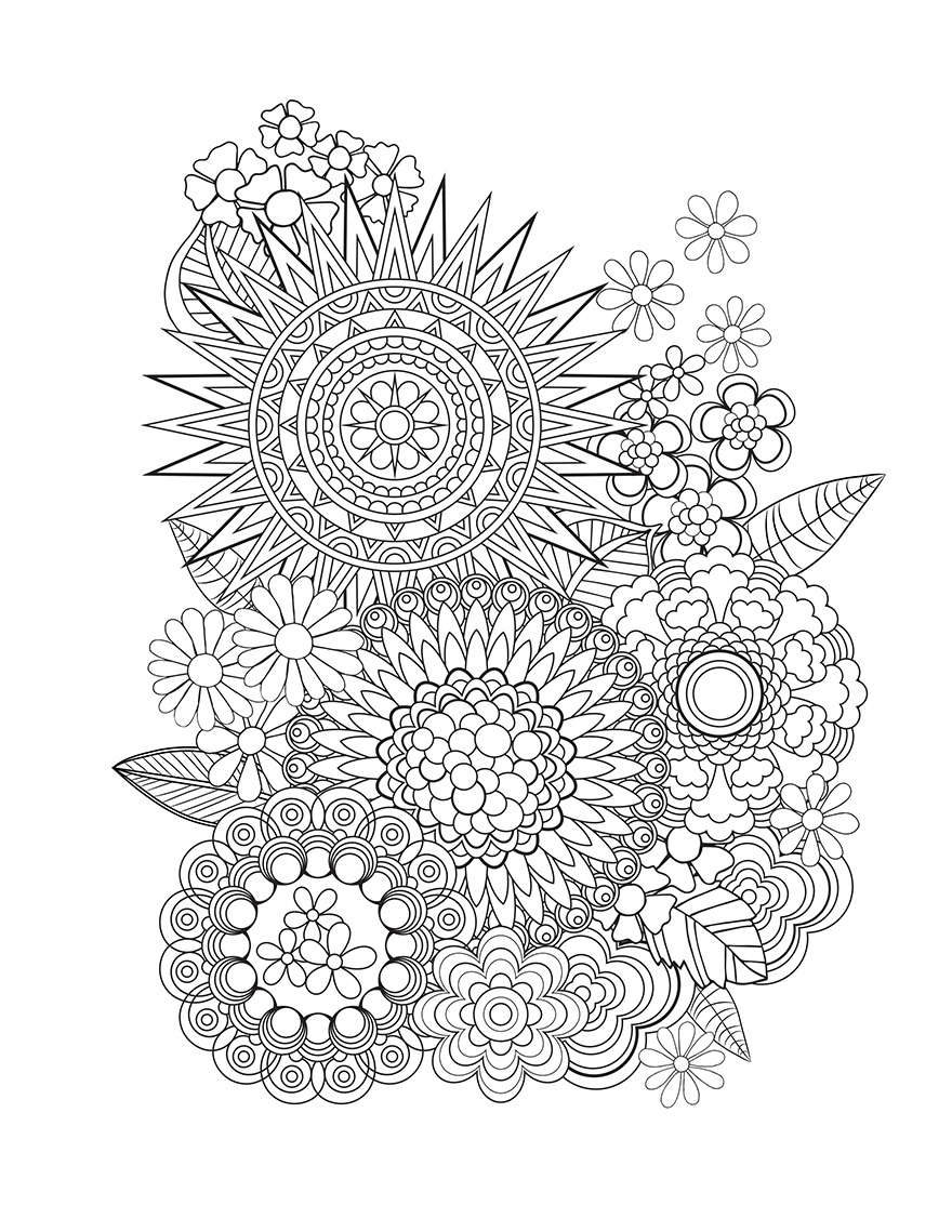 94 Creative Minds Coloring Book Flowers