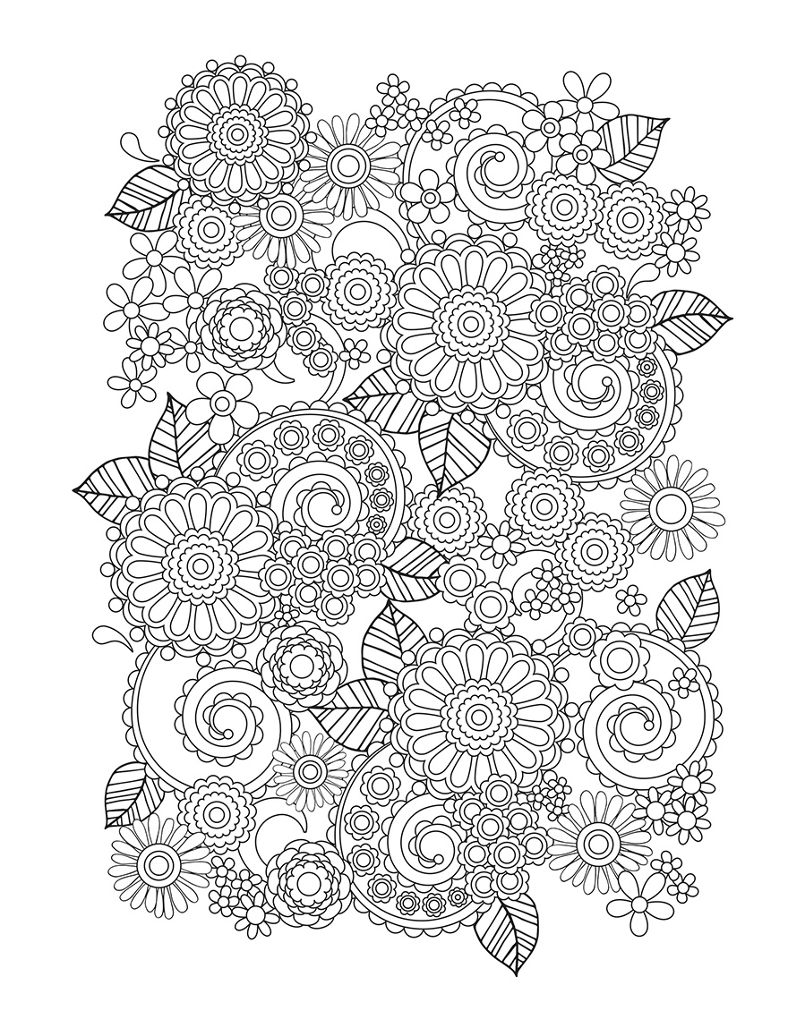 Colouring in pictures of flowers - Flower Designs I Create Coloring Books To Stimulate Creativity Bored Panda