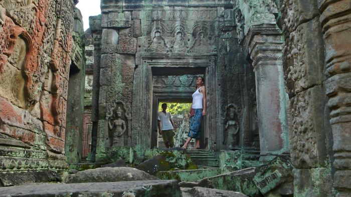 Just The Two Of Us In Angkor Temples…  Bored Panda