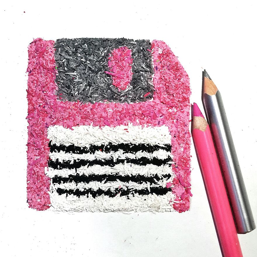 I Create Pencil Shaving Art For My 365-Day Project