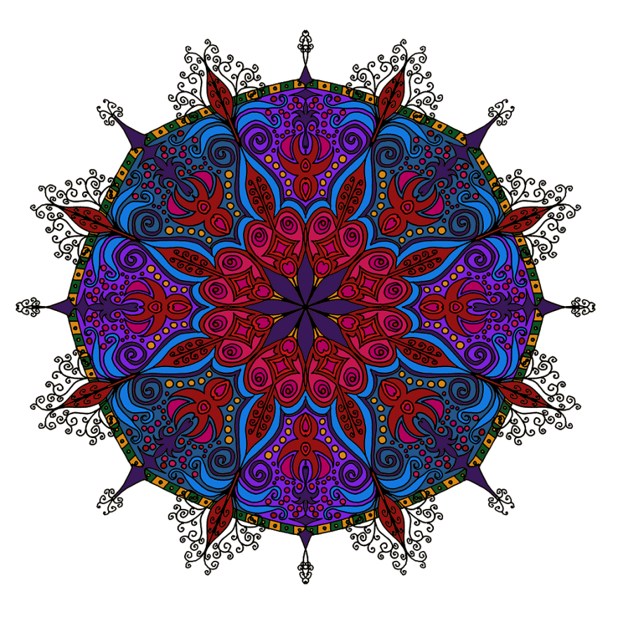 I Create Coloring Mandalas And
