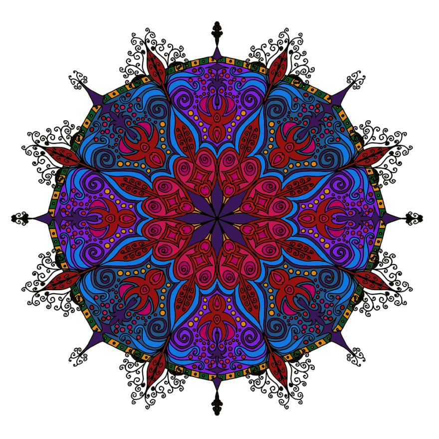 I Create Coloring Mandalas And Give Them Away For Free | Bored Panda