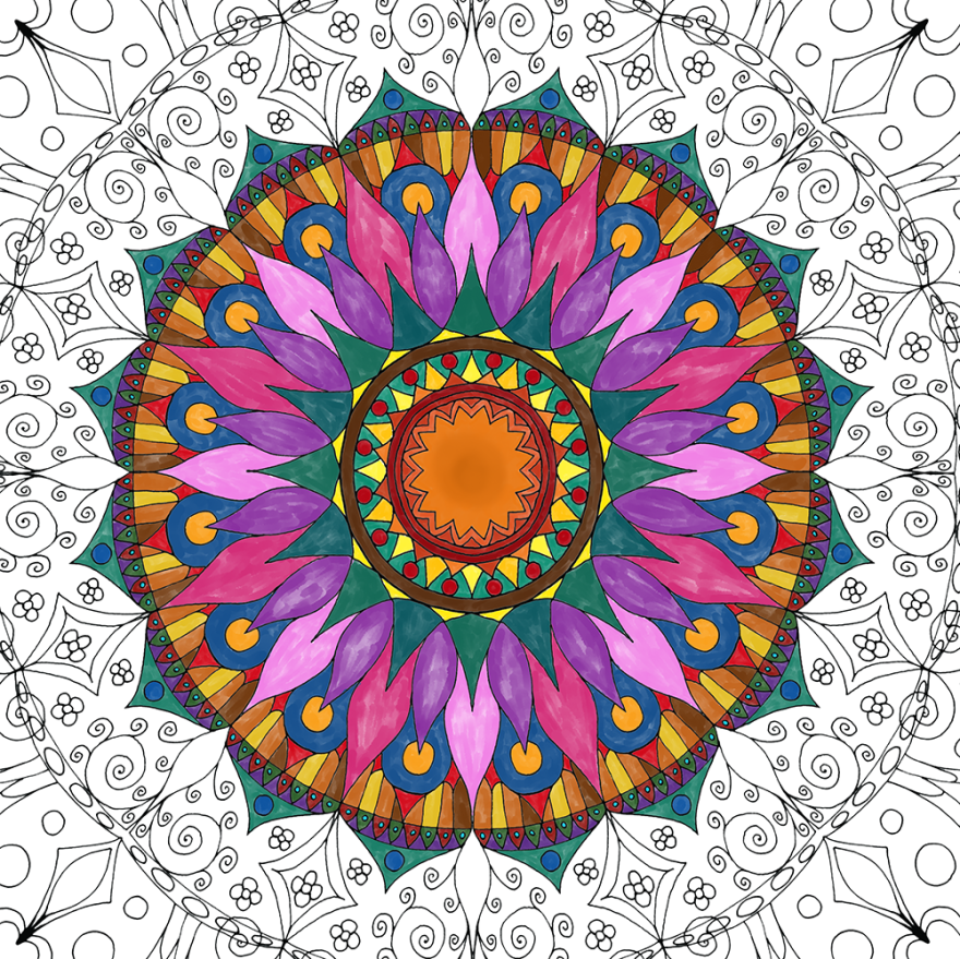 I Create Coloring Mandalas And Give Them Away For Free ...