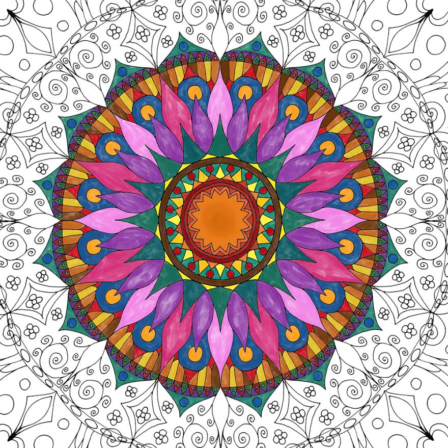 Create Coloring Mandalas And Give Them Away For Free Bored Panda
