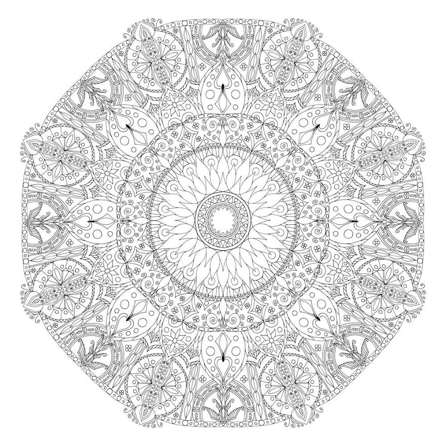 I Create Coloring Mandalas And