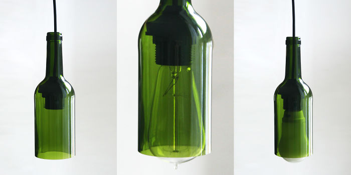 I Turn Empty Wine Bottles Into Beautiful Ceiling Lamps