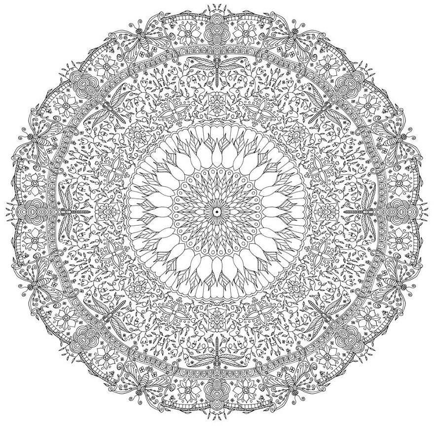 I Create Coloring Mandalas And Give Them Away For Free | Bored Panda