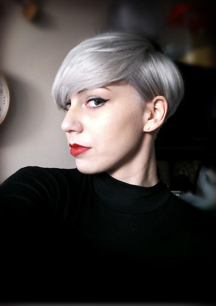 Lighter Grey Pixie