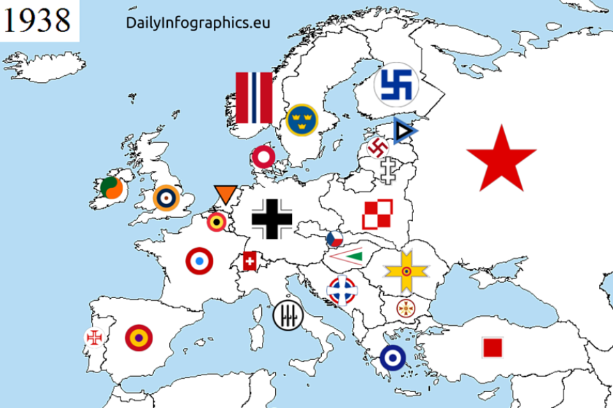 Six alternative maps of europe bored panda air force roundels before world war ii gumiabroncs Gallery