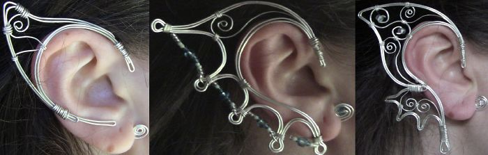 Fantasy Earcuffs By Mandy - Designed To Make Your Ears Look Magical! Handmade!!