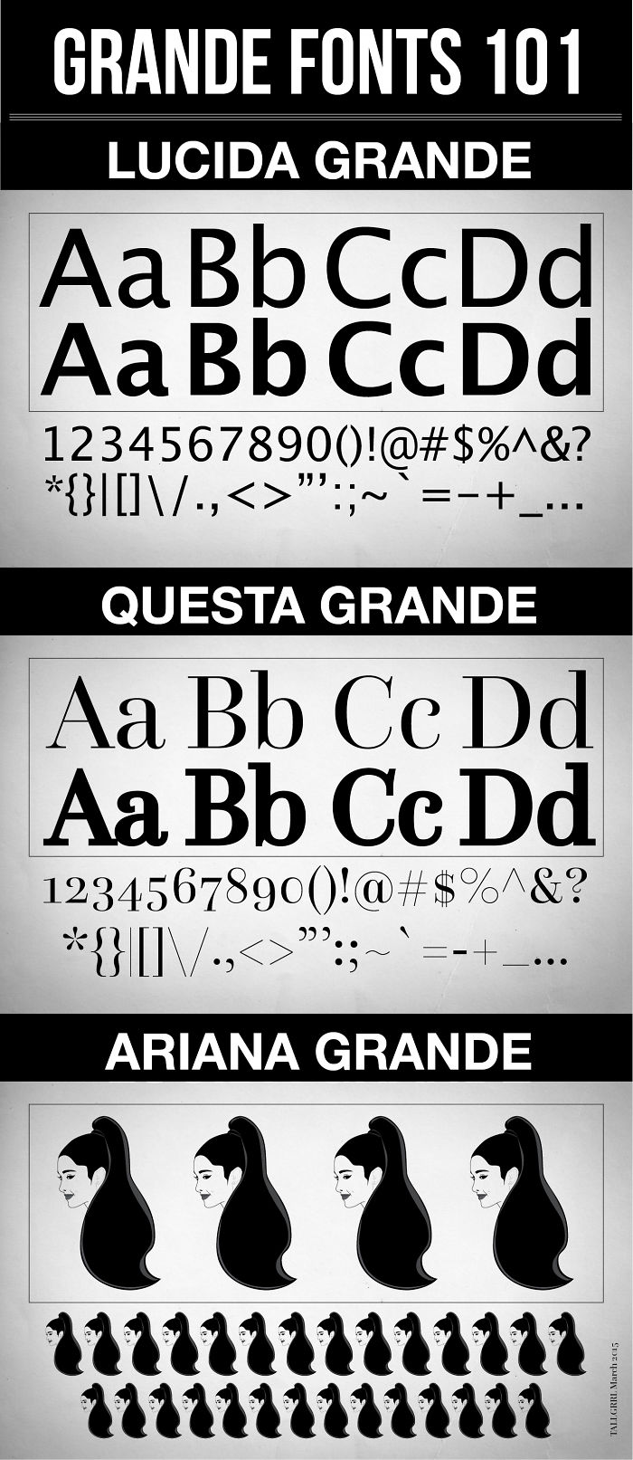 Ariana Grande Is A Beautiful Font