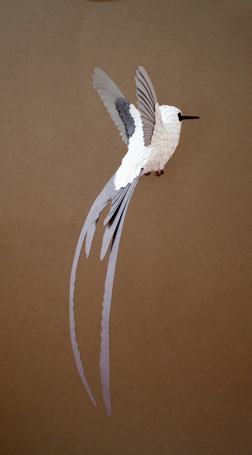 Elegant Hummingbird Sculpture, Before It Was Painted