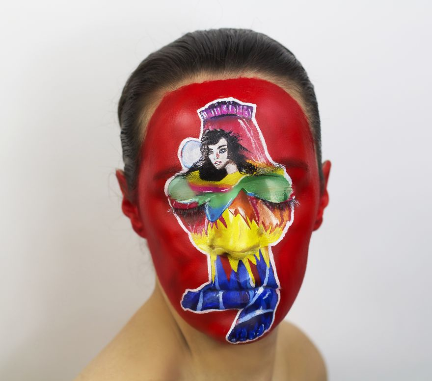 I Painted 11 Album Covers On My Face For Record Store Day