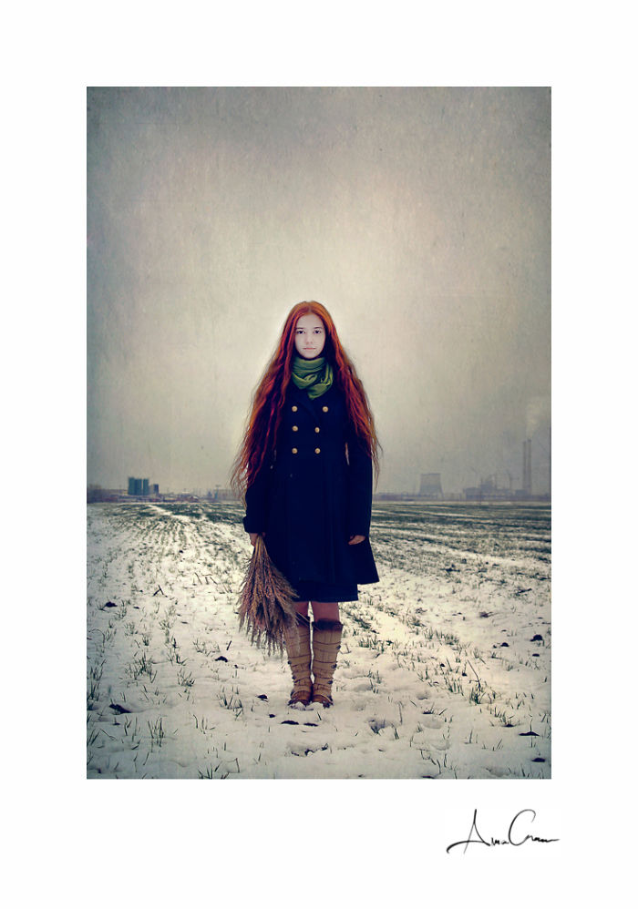 Redhead Beauty Portrayed In Romanian Landscapes