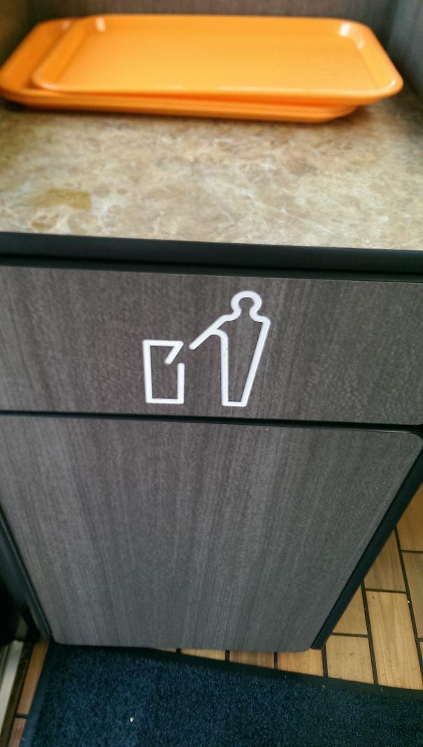 Trash Symbol Looks Like Man With Gun