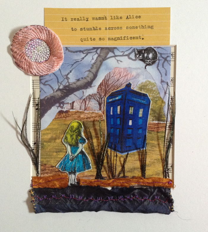 Selection Of My Mixed Media Alice In Wonderland Inspired Work.