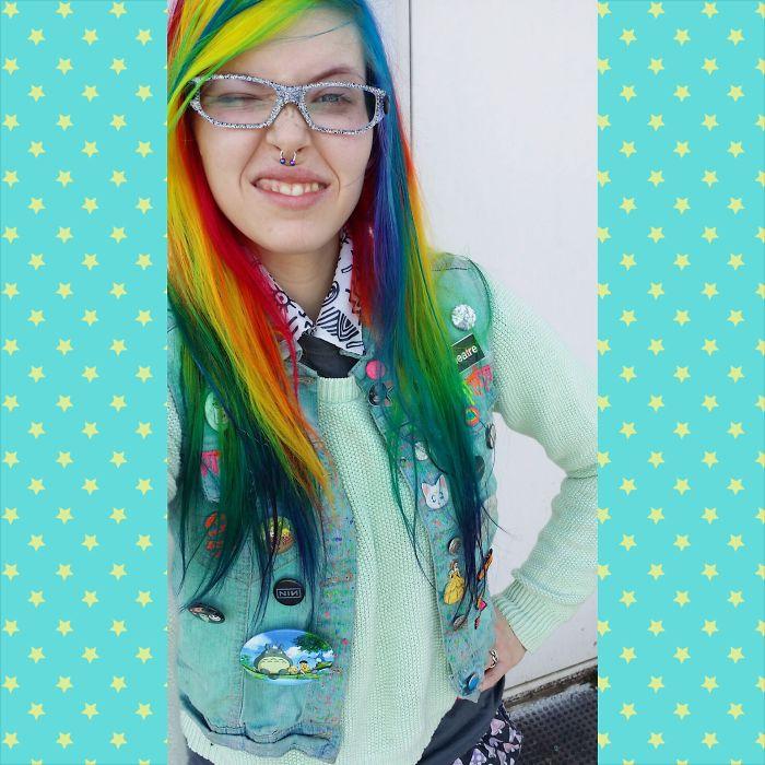 My Rainbow Hair In Natural Light
