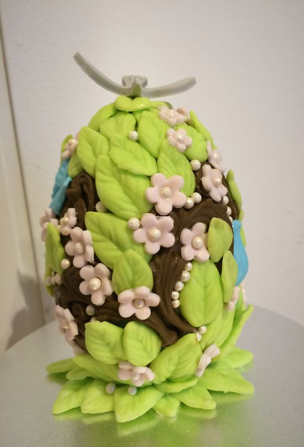 Norwegian Egg, Made Of Chocolate And Decorated With Sugar Paste!