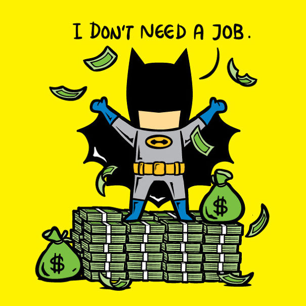 Superheroes Part Time Jobs Because No One Pays Them For Saving The