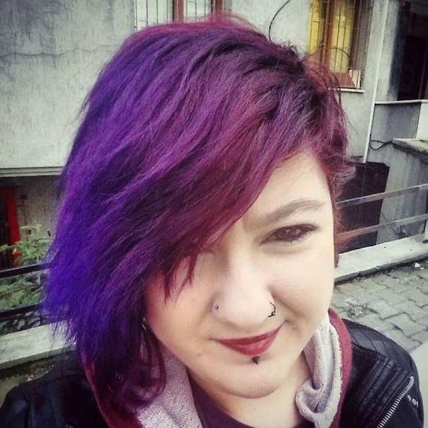 I Dyed My Hair Purple On Top Of Pink And Got This Result.. Loving It ❤