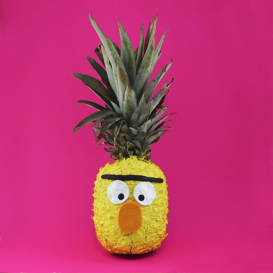 spanish artist plays with fruit to make funny pictures