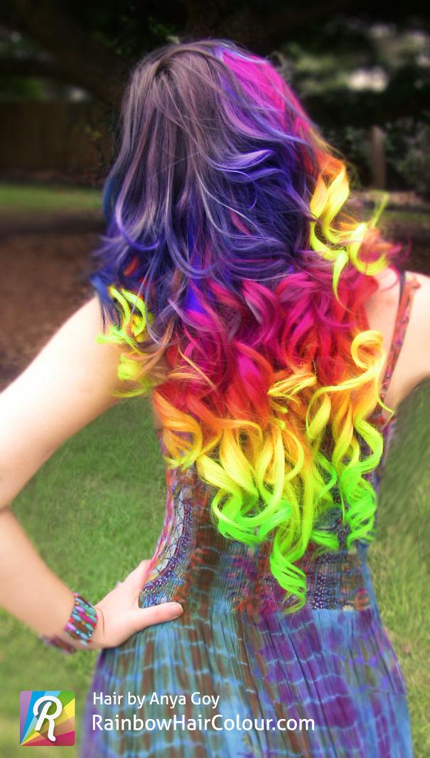 Rainbow Hair By Anya Goy
